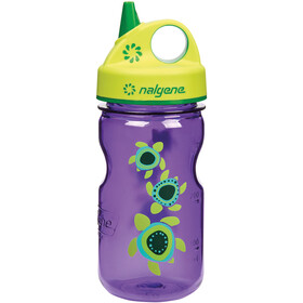 Nalgene Everyday Grip-n-Gulp Borraccia 350ml Bambino, violett turtles